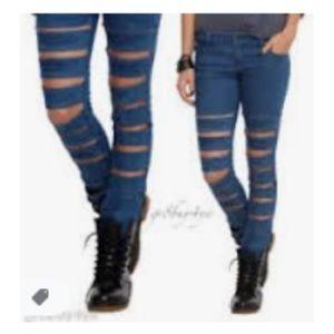 Royal Bones Cut Out Skinny Jeans Sz 5